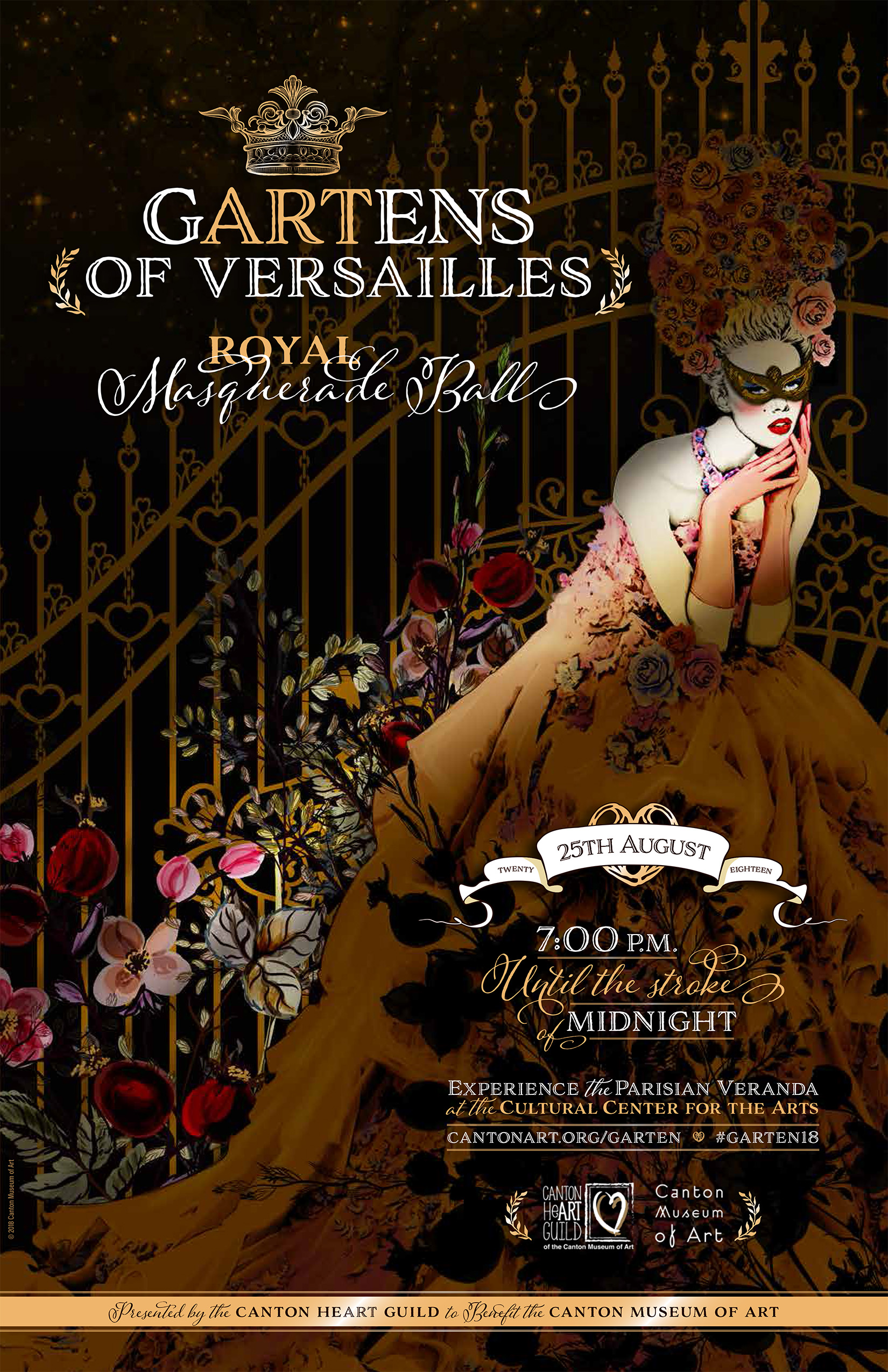 Tickets On Sale Now for the gARTens of Versailles Royal Masquerade ...