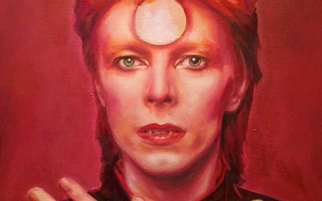 David Bowie art show opening on First Friday